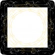 Stock Vector: Vintage frames with gold ornament