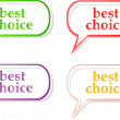 Vector best choice label stickers set — Stock Vector