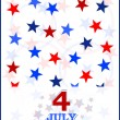 4th of July vector card — Stock Vector