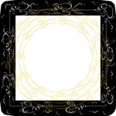 Vintage frames with gold ornament — Stock Vector