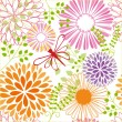 Springtime colorful flower seamless pattern — Stock Vector