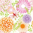 Springtime colorful flower seamless pattern - Image vectorielle