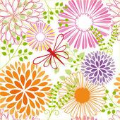 Весна красочный цветок бесшовный фон — Cтоковый вектор