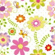 Springtime colorful flower seamless pattern — Stock Vector #10361605
