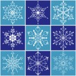 Christmas snowflake icon set — Stock Vector