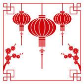 Carte de voeux de nouvel an chinois — Vecteur