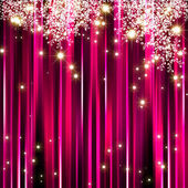 Sparkling star on pink magenta background — Stock Photo