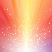 Sparkling star on colorful burst background — Stock Photo