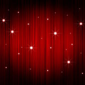 Red curtain with sparkling star — Stock Photo