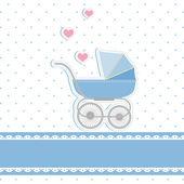 New baby boy shower invitation card — Stock Vector
