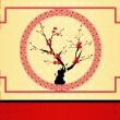 Chinese New Year greeting card — Stockvectorbeeld