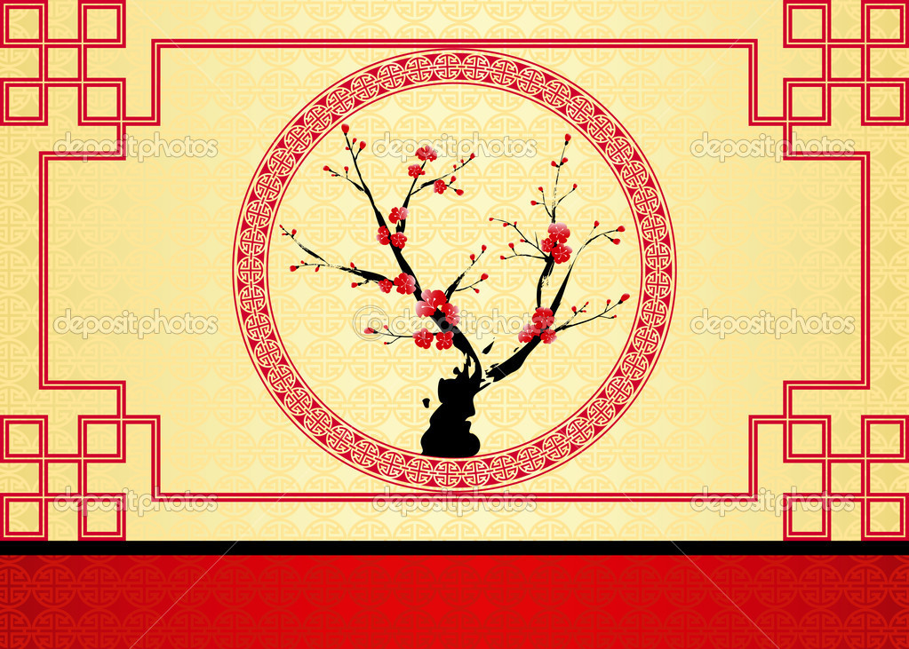 chinese new year greeting card  stock vector © meikis, Greeting card