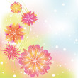 Abstract springtime colorful flower - Stock Vector