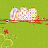 Easter holiday greeting card — Stock Vector