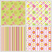 Set of Easter holiday seamless pattern — Stock Vector