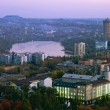 donetsk in the evening — Stock Photo