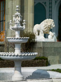 And the lion fountain made of marble — Stock Photo
