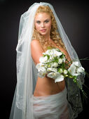 Nude bride — Stock Photo