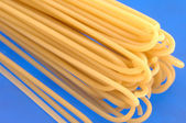 Pasta on the blue fone — Stock Photo