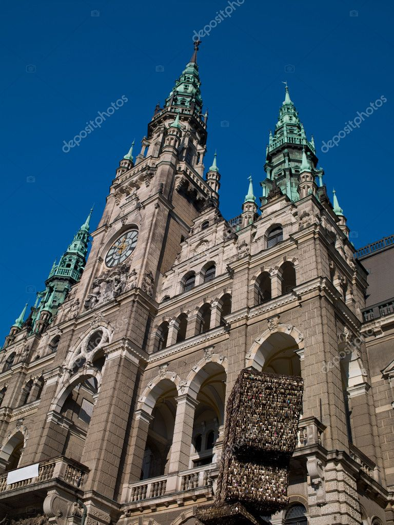 City Hall in Liberec in the sky — Stock Photo #9370677