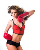 Boxing girl_345 — Stock Photo