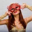 Royalty-Free Stock Photo: Beautiful girl with a mask