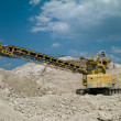 Bulldozer in the career — Stock Photo