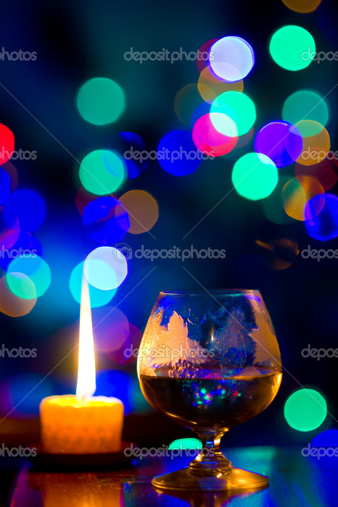 Beautiful bokeh, romantic celebration — Foto Stock #10108617
