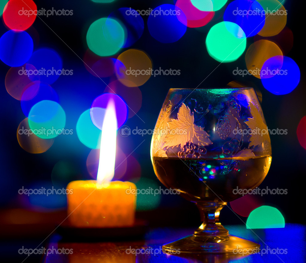 Beautiful bokeh, romantic celebration — Foto Stock #10108633