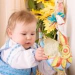 Children in the Ukrainian national costume — Stock Photo