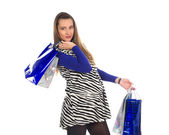 Lovely pregnant woman on shopping 6 — Stock Photo