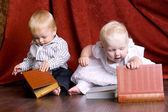 Children read books — Stock Photo