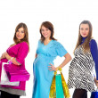 Royalty-Free Stock Photo: Group of pregnant women with shopping bags