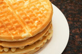 Belgian waffles — Stock Photo