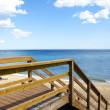 Stairs of access to Badalona's beach — Stock Photo