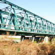 The railway bridge over the River Bess - Foto Stock