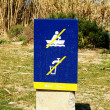 Informative sign in the Parc Fluvial of the Besós — Stock Photo