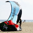 Preparing itself to practise kitesurf — Zdjęcie stockowe