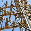 Stock Photo: Connections and junctions in tower of high tension