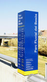 Signposting in the Parc Fluvial of the Besós — Stock Photo