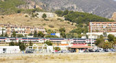 Panoramic from Castelldefels — Stock Photo