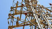 Connections and junctions in a tower of high tension — Stock Photo