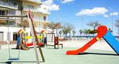 Children's playground in Badalona, Barcelona — Stockfoto