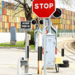 Signals of railway traffic - Stock Photo