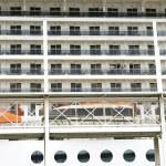 Windows and balconies of a transatlantic — Stock Photo