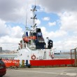 Tugboat anchored — Stock Photo
