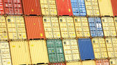 Mosaic of containers — Stock Photo