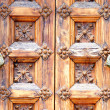Door of the palace of Mar i Cel in Sitges - Stock Photo