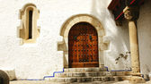 Door of the palace of Mar i Cel in Sitges — Stock Photo