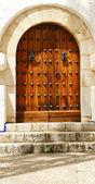 "Door of the palace of ""Mar y Cel"" — Stock Photo"